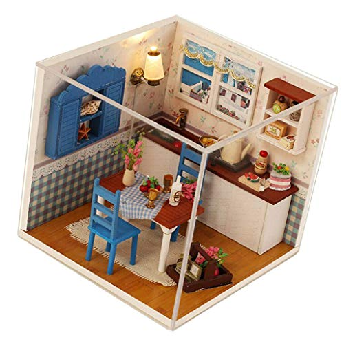 - NATFUR 1:24 Dollhouse Miniature DIY European Style Prince Doll House Kits Craft