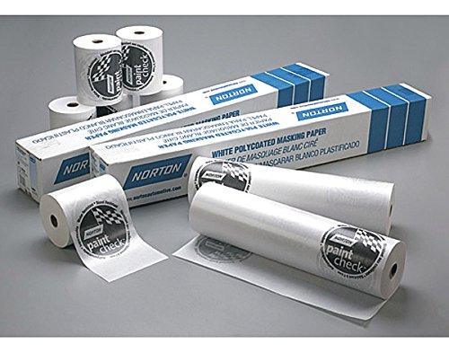 Norton 636425-00404 White 18'' x 750' Polycoated Masking Paper