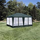 Formosa Covers Sun-Mart Deluxe Screen House, Party Tent 15x12ft Green