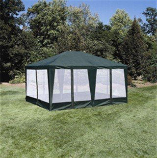 Sun-Mart Deluxe Screen House, Party Tent 15x12ft Green (Furniture Patio Sears Sale)