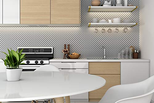 Backsplash Peel and Stick, Peel and Stick Wall Tile, Peel and Stick Tile for Kitchen Backsplash, Self-Adhesive and Decorative Backsplash Peel and Stick Tile, 3D Effect, 4 of 10'' x 10'' in Package