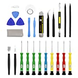 Precision Screwdriver Set of 9, Magnetic Torx Star Triwing Flathead Philips Driver Bits + 16 Pack of Pry Tool Kit for Small Electronics - Computer,Laptop,Xbox,Nintendo Console,Toys (25 Pcs Repair Kit)