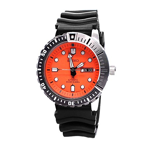 Seiko Prospex SRP589 K1 Black Orange 200m Automatic Men's Divers Watch Seiko Automatic 200m Diving Watch