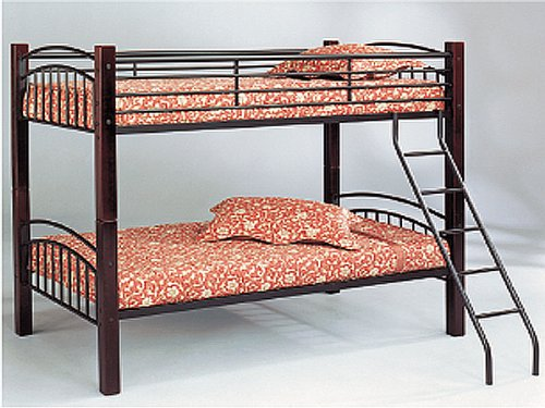 Twin / Twin Convertible Bunk Bed with Wood Posts ()