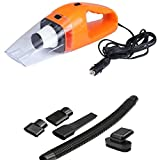 Atreus 120W Car Vacuum Cleaner High Power Portable Lightweight Wet & Dry Auto Handheld Vacuum 16.4 FT(5M) Power Cable(orange)