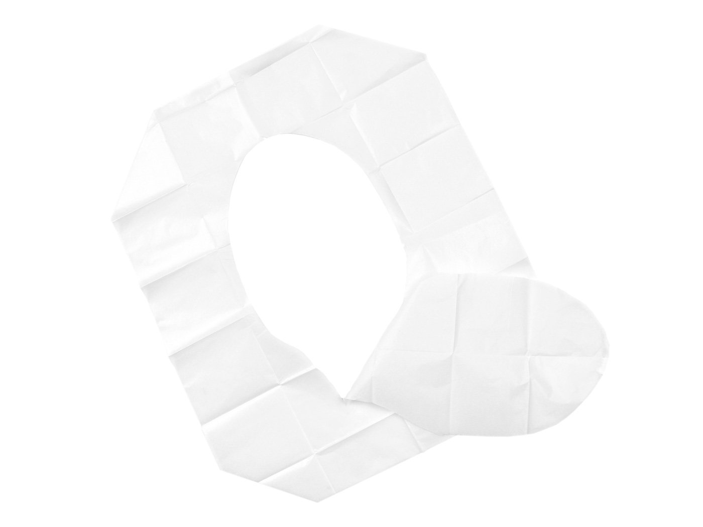 Disposable Plastic Toilet Seat Covers Travel Size for Women and Baby,10 Pack (60 Count),White … White ... TADAE