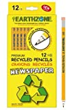 Earthzone Premium HB Recycled Pencils (12 Pack), Office Central