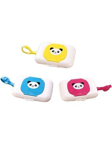Naisicatar - Dispensador de toallitas húmedas para bebé, 3 unidades, portátil, para viajes