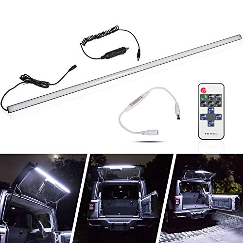 - LED Rear Glass Lift Gate Hatch Dome Light Bar Lights Up Your Cargo Area for 2018-2019 Jeep Wrangler JL JLU Great for Camping Fishing and Other Outdoor Activities at Night