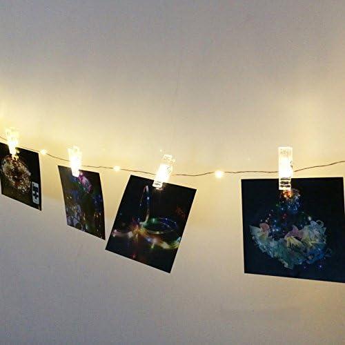 Portaretratos Tira de luces Led con Pinzas para Fotos 2 Mts
