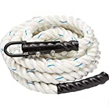 XHHWZB Workout Fitness Training Climbing Rope in White – Battle Rope Kids & Adults Outdoor & Indoor Gym Exercise