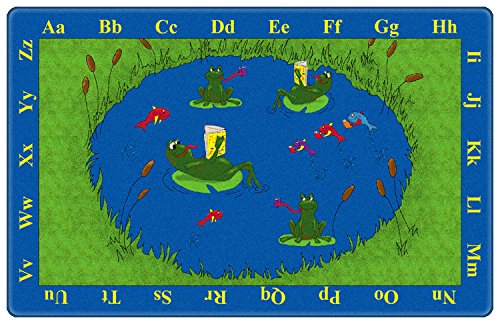 Frogs Kids Area Rug 6'x9'