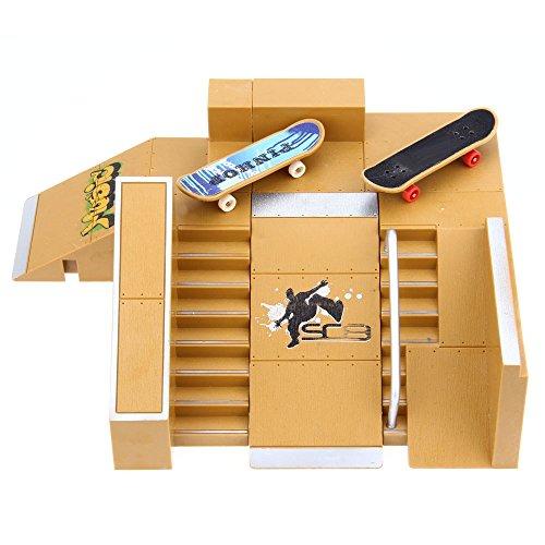 - DierCosy 5pcs Skate Park Kit Ramp Parts for Tech Deck Finger Board Ultimate Sport Training Props