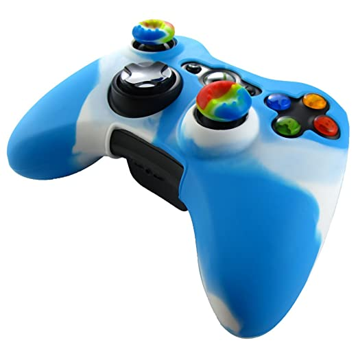 327 opinioni per Pandaren® Pelle cover skin per il Xbox 360 controller(bianco + blu) x 1 +