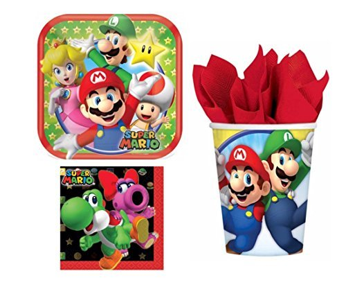 Super Mario Bros Party Pack for 8 Guests (32 Pieces)
