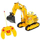 Marketworldcup-Remote Control RC Excavator Tractor Construction Truck 7 Channel Lights & Sound