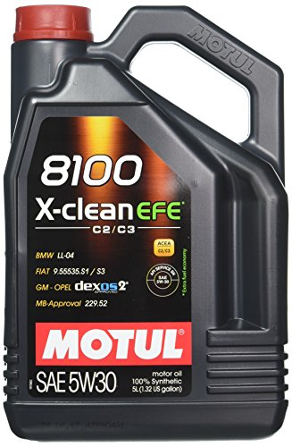Motul 8100 X-Clean EFE 5W-30 Synthetic oil, 5-Liter, 1 Pack ()