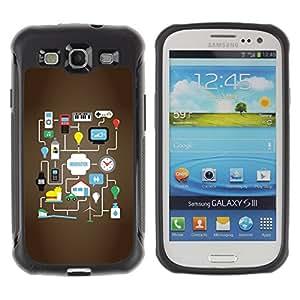 WAWU Funda Carcasa Bumper con Absorci??e Impactos y Anti-Ara??s Espalda Slim Rugged Armor -- technology google android game idea -- Samsung Galaxy S3 I9300