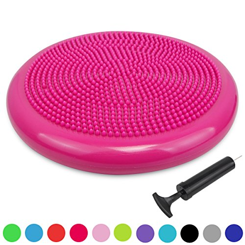 Trideer Inflated Stability Wobble Cushion with Pump, Extra Thick Core Balance Disc, KIDS Wiggle Seat, Sensory Cushion for Elementary School Chair (Office & Home & Classroom)