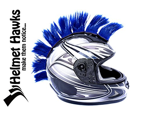 Helmet Hawks Motorcycle Helmet Mohawk w/ Sticky Velcro Adhesive (8) Patches 2