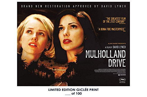 ultimate poster RARE POSTER david lynch MULHOLLAND DRIVE thick 2001 giclee REPRINT ! 12x18