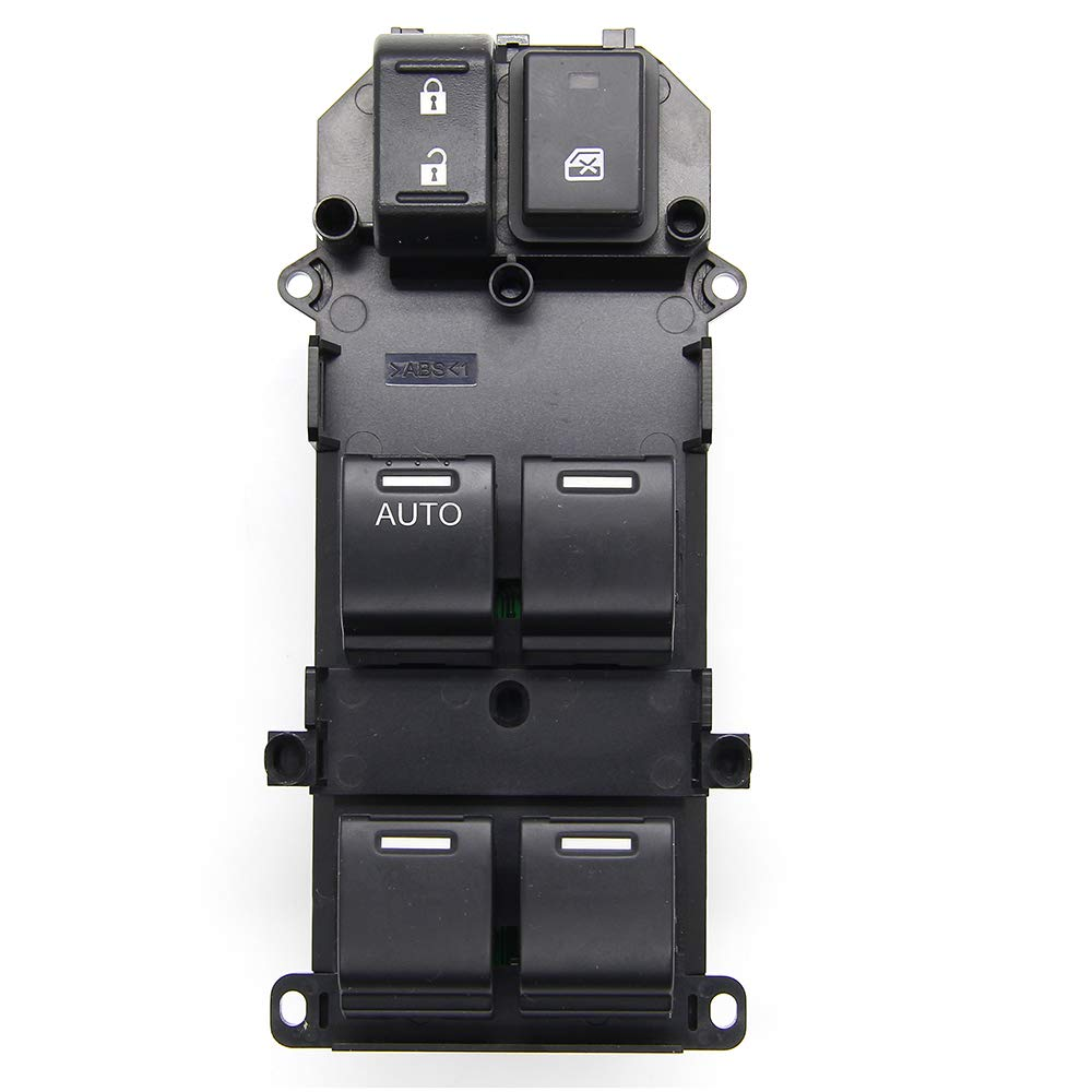 Front Left Driver Side fit for 2008 2009 2010 2011 2012 Honda Accord Replace # 35750-TA0-A02 35750-TA0-A01 35750-TBD-H13 Master Power Window Switch