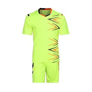 3498a905a Yefree Team Man Kids Soccer Set Jerseys Uniforms Children Football Kit Shirt  Tracksuit  Amazon.co.uk  Clothing