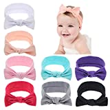 inSowni Boutique Stretch Bows Ears Headband Set for Baby Girl Kids Newborn