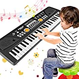 WOSTOO Piano Keyboard 49 Key, Portable Electronic Kids Keyboard Piano Educational Toy, Digital Music Piano Keyboard with Microphone for Kids Girls Boys