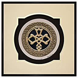 Celtic Wedding Knot -Cast Paper - Celtic Blessing - wedding gift - Irish art - Celtic art - Scottish art