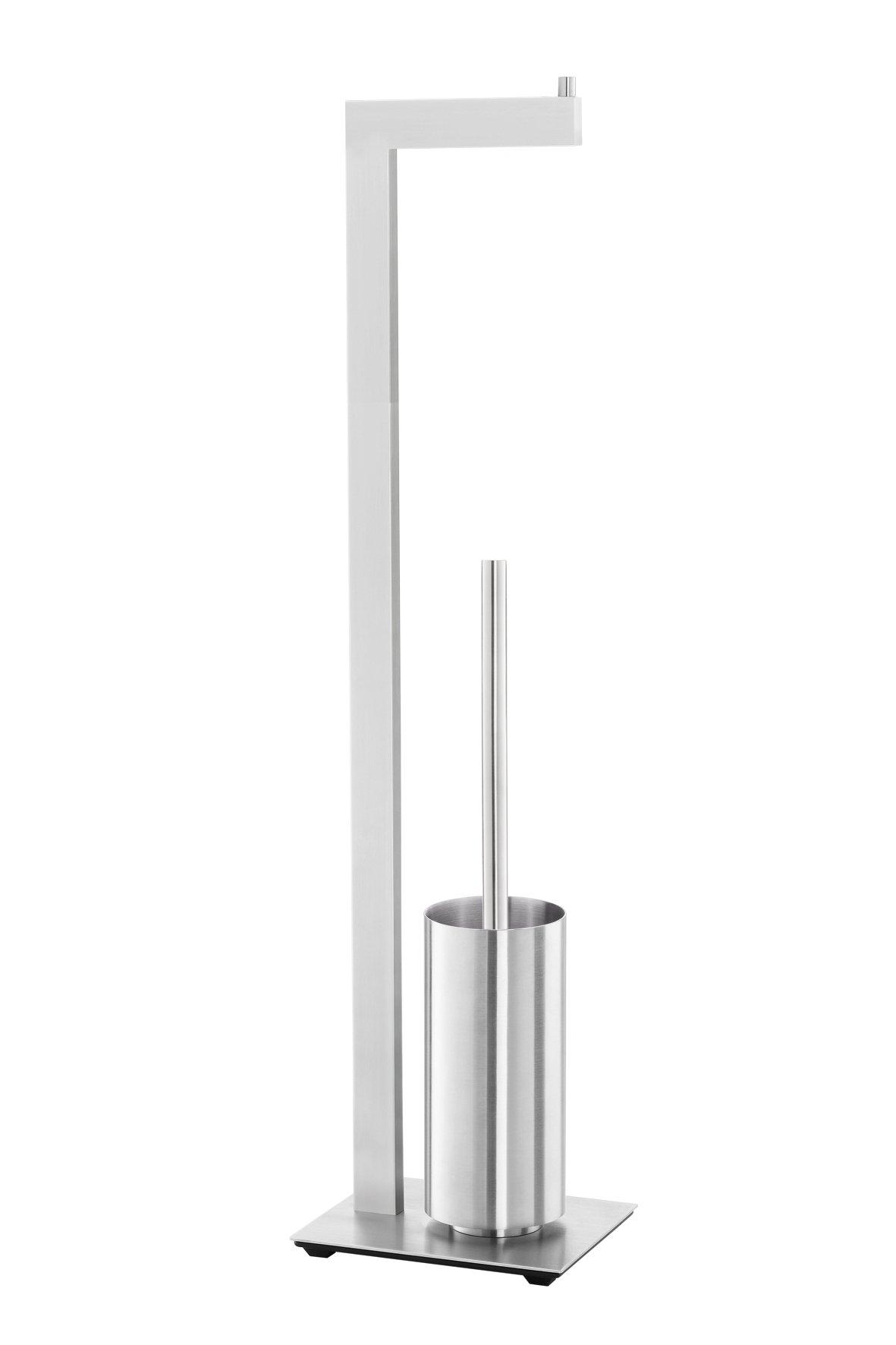 ZACK 40382 Linea Toilet Butler with Grey Toilet Brush