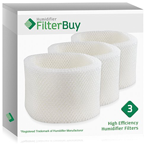 FilterBuy Replacement Humidifier Filters Compatible with HWF72 HWF75 Holmes, Touch Point, Sunbeam Humidifiers. Pack of 3.