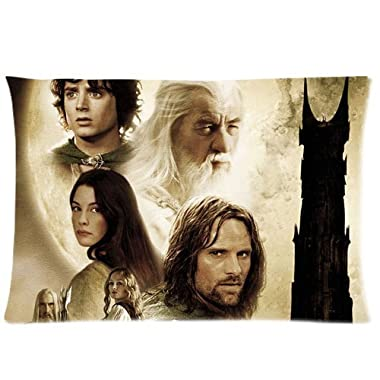 The Hobbit Lord Of the Rings Pillowcase Custom Cushion Case Zippered Two Sides Printed 20x30 Inches Fasfion Design Cotton Throw Pillow Cover