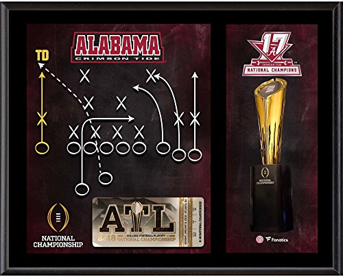 """Alabama Crimson Tide 12"""" x 15"""" College Football Playoff 2017 National Champions""""Game Winning Play"""" Sublimated Plaque"""