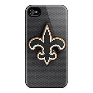 Shock Absorbent Hard Phone Cases For Iphone 6 With Customized Stylish New Orleans Saints Skin LauraAdamicska