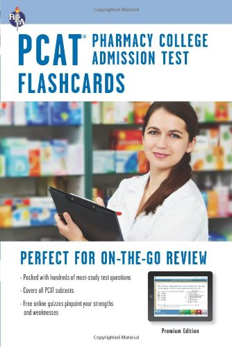 PCAT (Pharmacy College Admission Test) Flashcard Book + Online (PCAT Test Preparation)