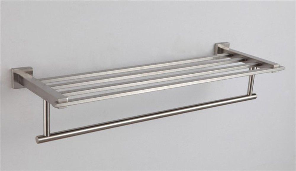 XVL Stainless Steel Bath Towel Rack Bathroom Shelf Brushed Finish G507-1