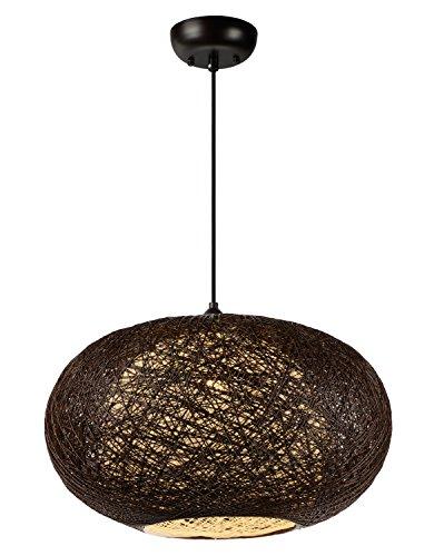 - Maxim 14404CHWT, Bali Incandescent Single Pendant, 1 Light, 60 Watts