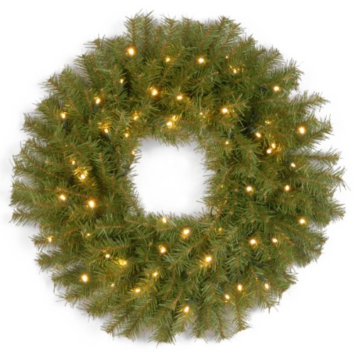Outdoor Lighted Artificial Christmas Wreaths in US - 6