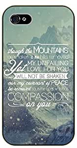 iPhone 5C Bible Verse - Though the mountains be shaken and the hills removed - black plastic case / Verses, Inspirational and Motivational by supermalls