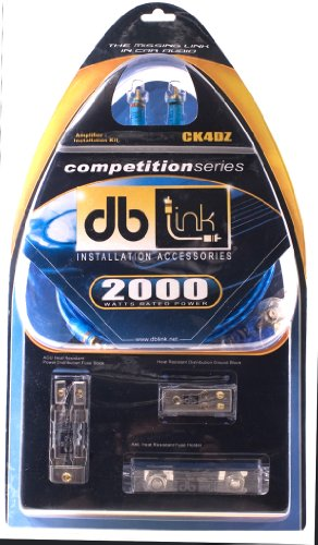 Db Link CK4DZ 4-Gauge Competition Series Amplifier Wiring Kit with ANL Fuse Holder - Fuse Link Kit