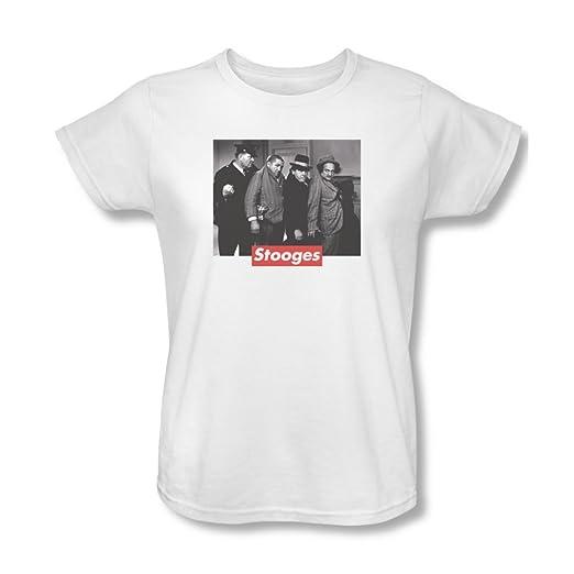 Amazon.com  Three Stooges - Womens Supreme Rip T-Shirt  Clothing 1acc2b4d7b