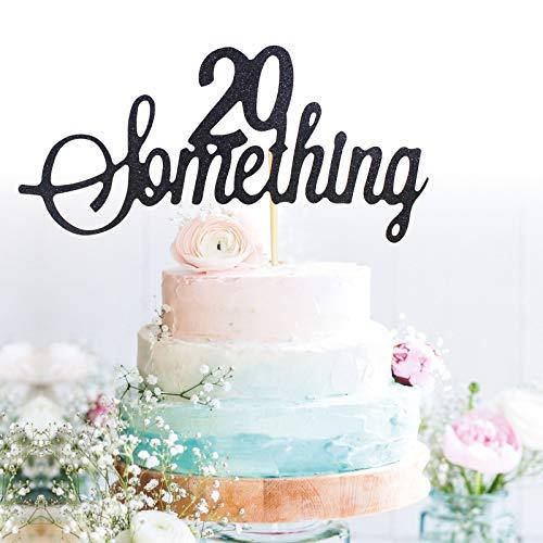 GrantParty Glitter Black 20 Something Anniversary Cake Topper We Still Do 20th Vow Renewal Wedding Anniversary Cake Topper(20 Black)