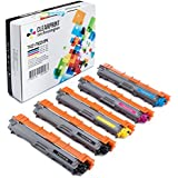 Clearprint TN221 / TN225 Compatible Toner Cartridge Replacement for Brother TN221/ TN225 (2 Standard Yield Black, 1 Cyan, 1 Yellow, 1 Magenta, 5-Pack)