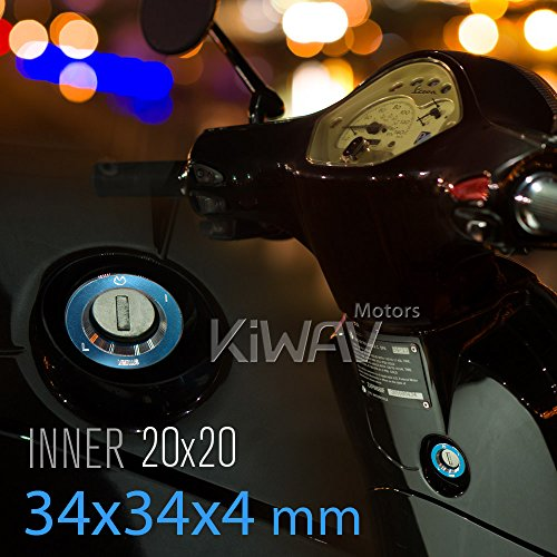 VAWiK CNC Anodizing Aluminum Alloy 6061 steering lock trim blue for Vespa LX S ET4 GTS GTV