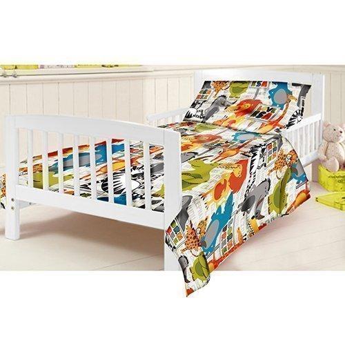 Ready Steady Bed Children's Junior Cot Bed Size Born Free Print Duvet Cover Set. Size: 120cm x 150cm