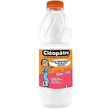 Cleopatre CT1L - Pegamento transparente especial para escuelas, 1 kg: Amazon.es: Oficina y papelería