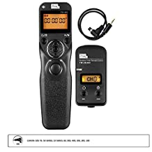 PIXEL TW-283/N3 LCD Wireless Shutter Release Timer Remote Control for Canon 1D Series, 5D Series, 7D Series, 6D, 6D2, 50D, 40D, 30D, 20D, 10D