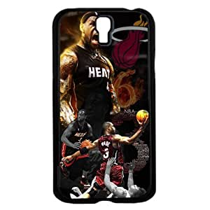 Red and Black Famous Miami Heat Basketball Ball Players Fan Art Hard Snap on Phone Case (Galaxy s4 IV)