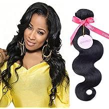 Punzel's Brazilian Human Hair Body Wave #1 Jet Black Human Virgin Human Hair Extensions 10-30 Inches Pack of 1